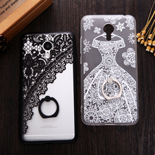 Fundas Phone Cases for Meizu M3 Note Pro 6 Henna Floral Paisley Flowers Lace Dress Superman Batman Cover With Finger Ring Holder