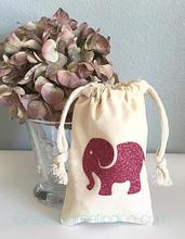 elephant baby shower Hangover Kit jewelry favor muslin Bags Bachelorette hen Champagne Party gift bag