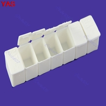 YAS 5pcs/lot New Mini Week 7Days Medicine Pill Storage Box Case Pillbox Container