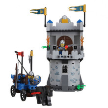 Enlighten Castle Series Medieval Castle Knight Pagoda Carriage Model Building Blocks Bricks Sets Compatible With Legoe China(China)