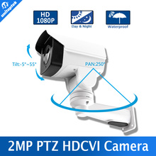 Waterproof CCTV Security HD 1080P Outdoor 2MP Mini Bullet HDCVI PTZ Camera,4Pcs Array Leds IR 30m,Support Coaxial Control
