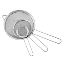 Hi-Q Stainless Steel Wire Fine Mesh Oil Strainer Flour Sifter Sieve Colander ,set of 3 B030
