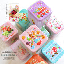 1x 3D relief Square iron box gift Tea candy storage seal box wedding favor tin box Jewelry Pill Cases portable tin box container