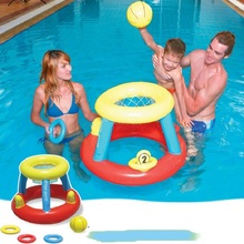 Inflatable basketball stands backboard Inflatable swimming toys basketball shooting game ring