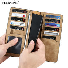 FLOVEME Wallet Case For iPhone 6 7 Plus Case Leather Pouch for Samsung S8 S8 Plus S6 S7 Edge Bags for Huawei P10 Xiaomi mi6 Case