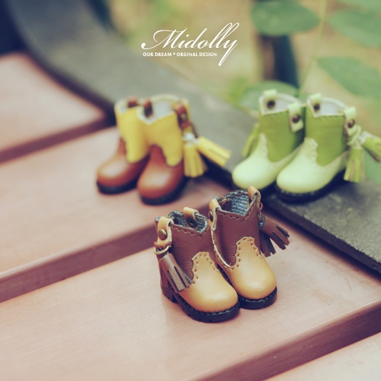 Free shipping NEW High quality handmade Two-color boots Doll shoes,doll accessories for blythe JerryB licca FR girl play house<br>