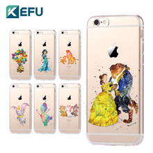 XIX for fundas iPhone 5S case 5C 5S 6 6S 7 Plus Princess soft silicone TPU cover for coque iPhone 6S case for VIP Customers(China)