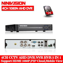 Buy NINVISION 5in1 8CH CCTV 1080N XVR DVR NVR Hybrid Digital Video Recorder P2P Cloud Support 1080P CVBS TVI CVI IP AHD Camera Onvif for $53.59 in AliExpress store