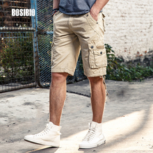Spring Summer Mens Camo Military Cargo Shorts Work Casual Loose Khaki Solid 100% Cotton Short Pants Top Selling Plus Size FH3232