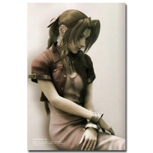 Aerith - Final Fantasy VII Art Silk Fabric Poster Print 13x20 24x36 inch Hot Game Pictures for Living Room Wall Decor 010