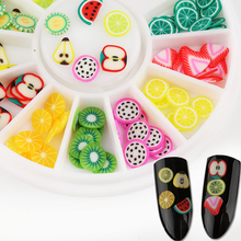 1 Box Sweet Polymer Clay Nail Decoration Apple Watermelon Strawberry Fruit Nail Decorations Summer 3D Manicure Nail Art Ornament(China)