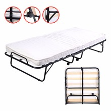 Folding Bed Foam Mattress Twin Roll Away Guest Portable Sleeper Pull Out HW51123(China)