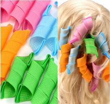 18PCS/set Spiral Hair Curler Soft Magic Hair Curls large wavy hair Rollers Easy Hair Styling Tools kit with hooks Free Shipping(China)
