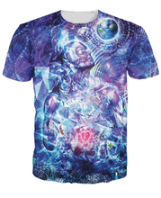 Women Men 3d Transcension T-Shirt trippy design the Earth symbols birds butterflies t shirt Summer Style  tops tees