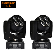 TP-L6W2 Free Shipping 2XLOT 8Pcs 15W High Power RGBW Led Moving Head Wash Light Double Faced Feature Super Powerful Light(China)