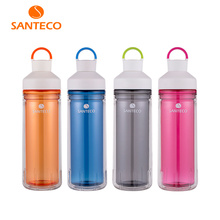 Santeco Ocean Series Beverage Bottle Double-wall Insulated Tritan Water Bottle Durable Outerdoor Flask 590ml(China)