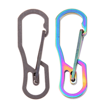 Multifunction Tools Titanium High Loading-bearing Hook EDC Tool Keychain 25KN Carabiner Hiking Camping Outdoor Multi Tool(China)