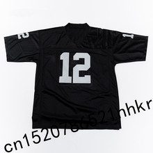 Retro star 12# Ken Stabler Embroidered Name&Number Throwback Football Jersey Black(China)