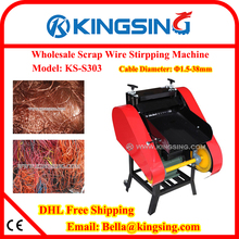 Factory Direct Selling Scrap Cable Recycling Machine, Scrap Cable Stripping Machine KS-S303 + Free shipping by DHL air express