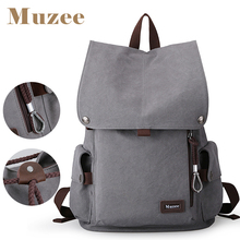 2017 Muzee New Male Canvas Backpack High Capacity Travel Bag Laptop 15.6 inch backpack  Men School Bag Rucksack  mochila