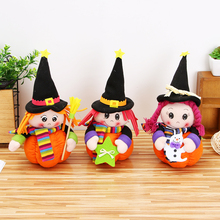 N2HAO HOT 1pc Halloween Pumpkin Girl Dolls Miniature Creative Pumpkin Ornaments Party DIY Decoration Kids Gift(China)
