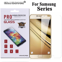 GRANDBOOM For Samsung S7 S6 S5 S4 S3 mini S2 S7562 S7262 Z3 Z1 2.5D 9H Tempered Glass Screen Protector retail paper box 10pcs(China)