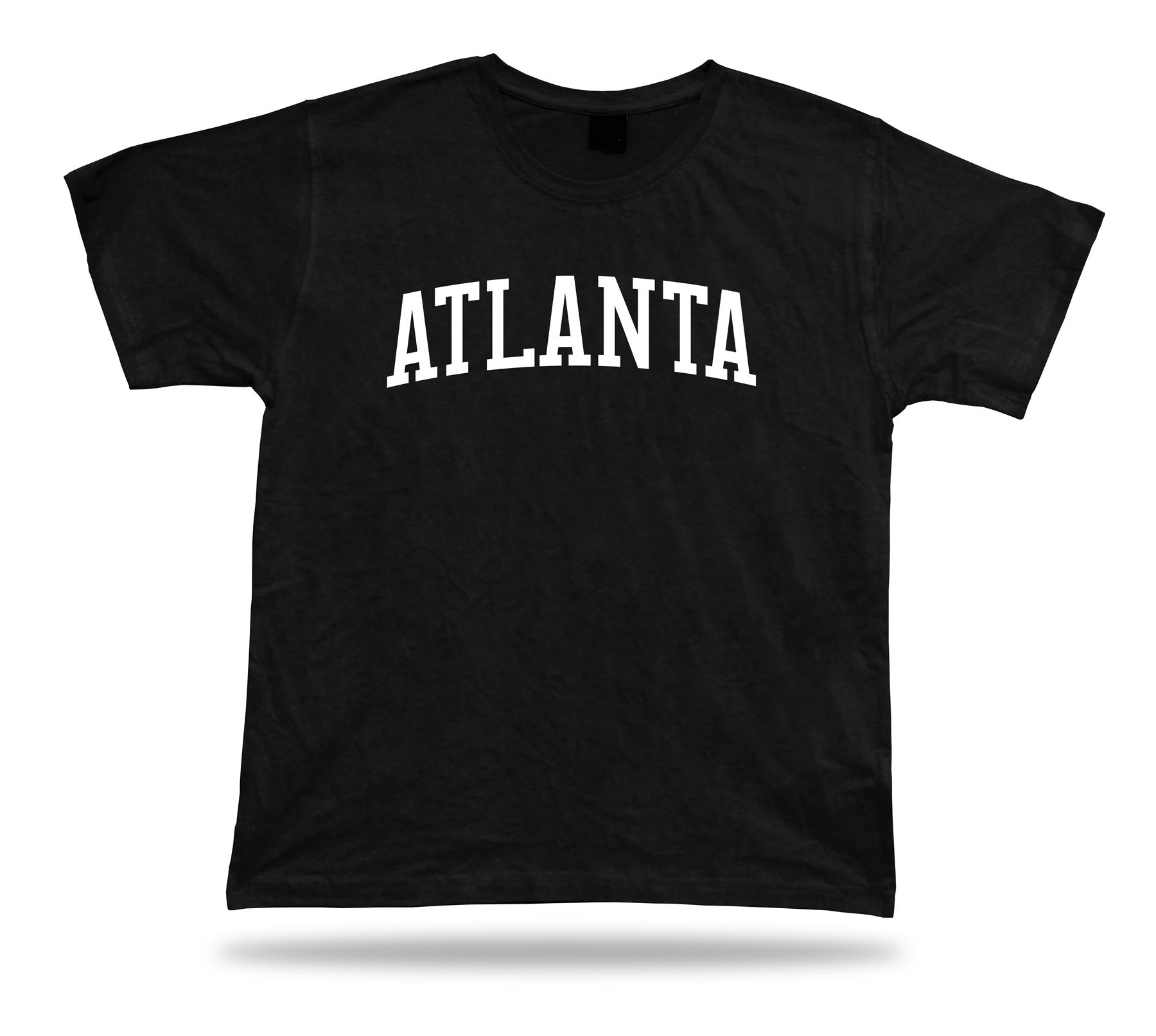 T-Shirt Lucky Souvenir Tee Stylish Gift Idea Atlanta Georgia Train Baseball Printed T Shirt Men Cotton T-Shirt New Style(China (Mainland))