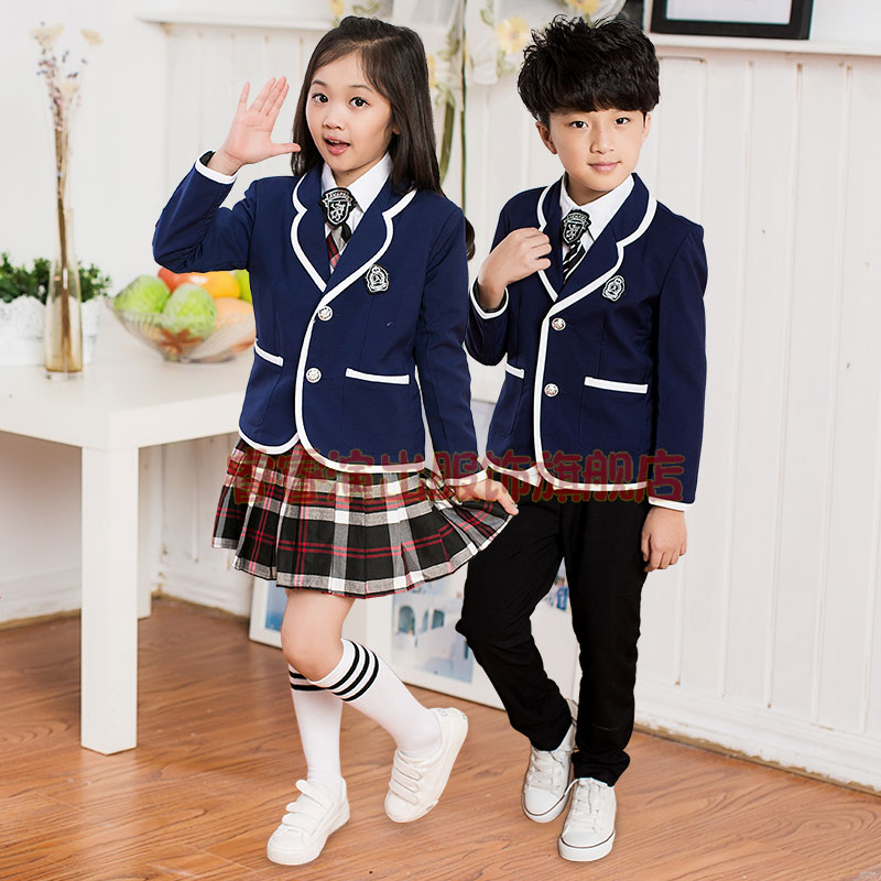 Childrens Kit school uniform clothing and long sleeved chorus of primary school students reading student school uniforms<br>