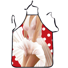 New Sexy Cooking Aprons Funny Novelty Party BBQ Apron Adult Women Lovely Rude Cheeky Kitchen Cooking Apron(China)