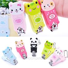Professional Manicure Pedicure Set Kit Nail Care Clipper Tool Scissors Cute Cartoon Animal Pattern - Pattern Assorted