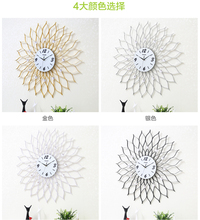 Decoration Arts crafts guabiao wall mute gifts 4 color large size living room wall clock watch modern minimalist personality(China)