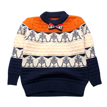 Fashion Boys Pullover Sweaters Patchwork Cotton Crochet Baby Boys Sweaters 2017 Spring Autumn Knitting Designs Kids Sweaters(China)