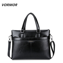 VORMOR Men Messenger Bag PU Leather Casual Briefcase Business Shoulder Bag Computer Laptop Handbag Bag Men's Travel Bags 2017