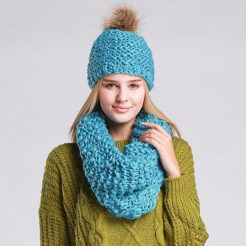 10 colors Winter  hat  scarf Women Warm fashion Lady Hat Handmade knitted hat headwear girlsОдежда и ак�е��уары<br><br><br>Aliexpress