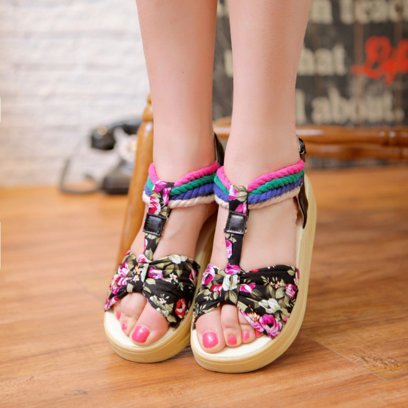 New shook his sandals Size 34-39 yards in Floral woman with summer sandals resort sandals WA-262<br><br>Aliexpress
