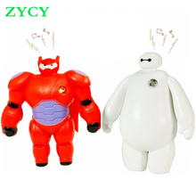 New Big Hero 6 Toys Cartoon Movie LED Light and Sound Baymax PVC Actions Figures Toy Retail And Wholesale