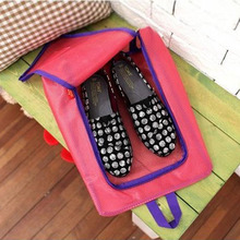 1 pcs Waterproof Mesh Shoes Storage Bag Shoes Bag Travel Storage Bag Case Luggage Divider Container(China)