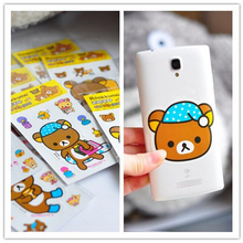 L46 5X Cute Kawaii Rilakkuma Cartoon Decorative Sticker Dairy Album Paper Craft Decor Phone Computer DIY Stick Label Kids Gift(China)
