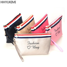 HHYUKIMI Brand PU Cortex Makeup Cosmetic Bag Portable Make Up Bags Travel Toiletry Storage Organizer Personal Hygiene Wash bag