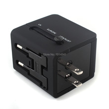 2 USB port Worldwide Travel Adapter AC TO USB Power Wall Charger US EU UK AU Plug 5V 2.1A For tablet pc Mobile phone 100pcs/lot
