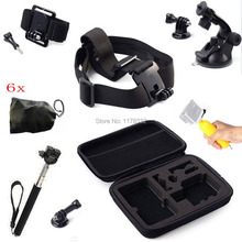 Monopod Floating Grip Head Wrist Mount Bag Accessory + Small Bags +Suction Cup + Screws For GoPro HD hero 2 3 3+ 4