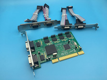 6 Port Serial RS232 DB9 Pin COM Adapter PCI Host Controller Card MCS9865 Chipset(China)