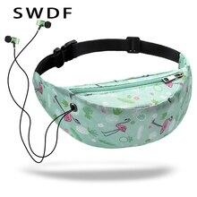 3D Colorful Print women waist Bags girls fanny packs Hip Belt Bags Money Travelling Mountaineering Mobile Phone Bag Waist Packs(China)