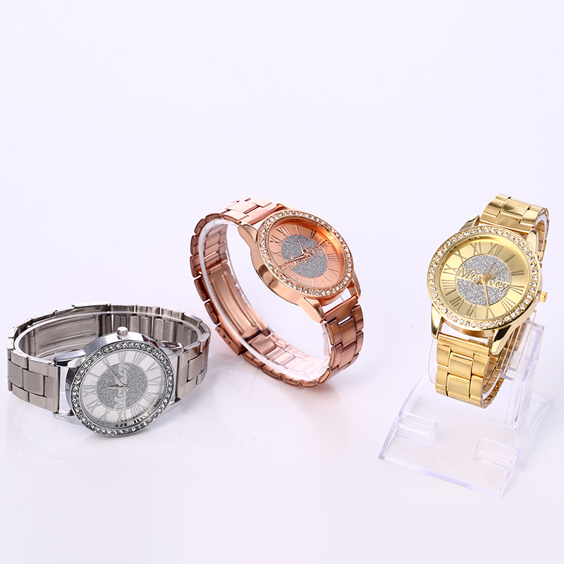 New 2017 Fashion Casual Clock Silver Bracelet Watch Women Rhinestone Watches Womens elegant Quartz Wrist Watch relojes mujer<br><br>Aliexpress