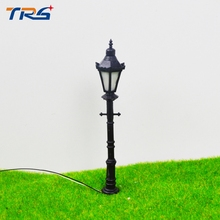 Teraysun 7.5cm scale model ABS plastic courtyard lampost light for model train layout street lamp.model light