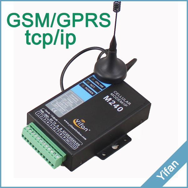 M240 Series RS232 RS485 Modbus Industrial gprs modem with IO for Telemetry SCADA AMR<br><br>Aliexpress