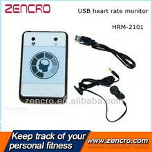 Infrared Ear Finger Clip USB Cable Heart Rate Monitor(China)