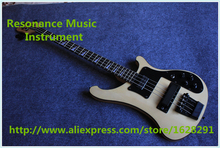 New Arrival Cream Finish 4 String Rick Bass Guitar China R4003 Black Hardware Bass Guitar For Sale(China)