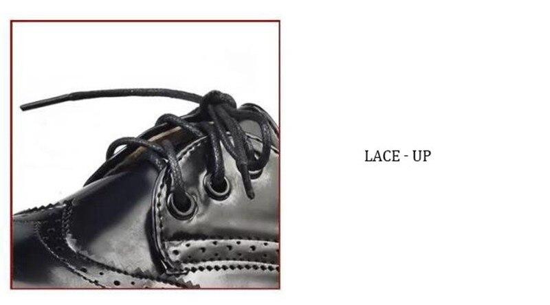 COOTELILI Designer Shoes Women Luxury 2018 Brogue Flat Platform Shoes Woman 4cm Heel PU Leather Lace-Up Ladies Shoes Flats 35-40 (11)