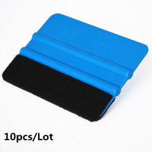 EHDIS 10pcs/Set 3M Felt Squeegee Car Snow Shovel with Cloth pp Vinyl Car Cleaning Tools Water Wiper Auto Window Ice Scarper A02(China)